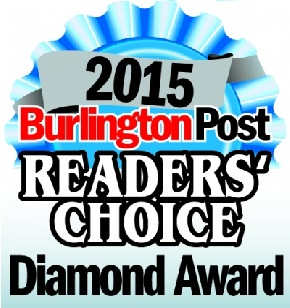 Burlington Readers' Choice Diamond Award 2015