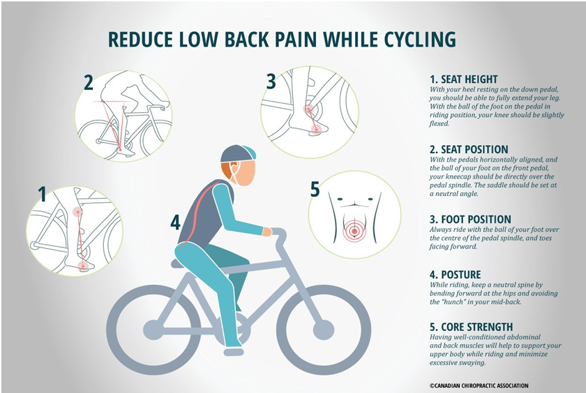 Reduce Back Pain While Cycling
